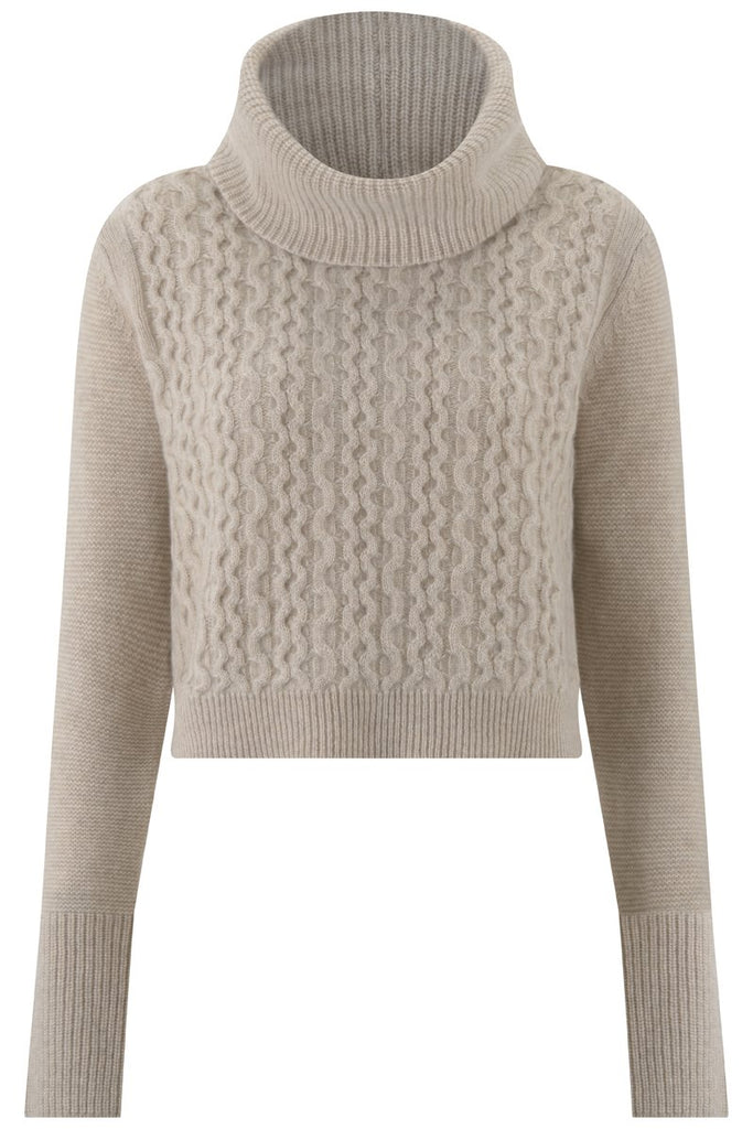 Gere Cashmere Jumper in Wheat