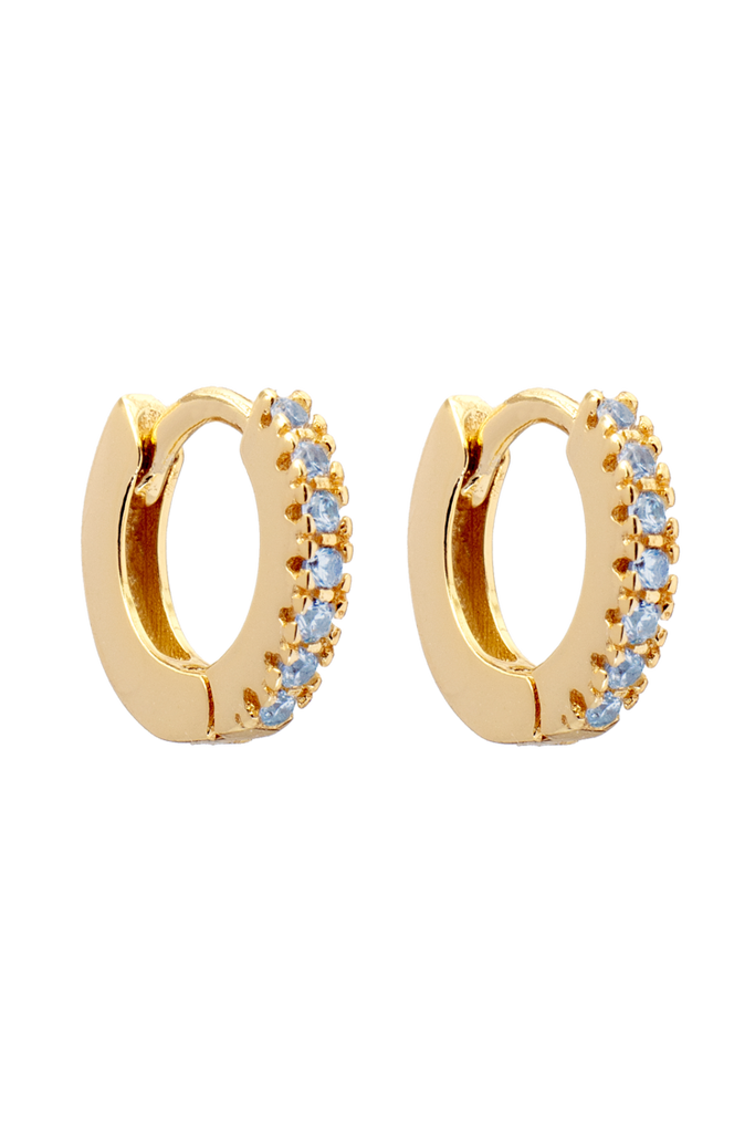 Huggie Zircon Studded Hoops 10mm