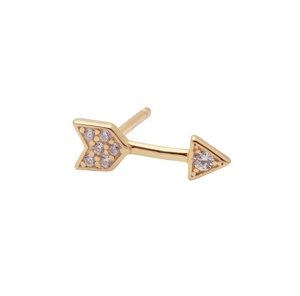 Arrow Zircon Stud Earring - SINGLE