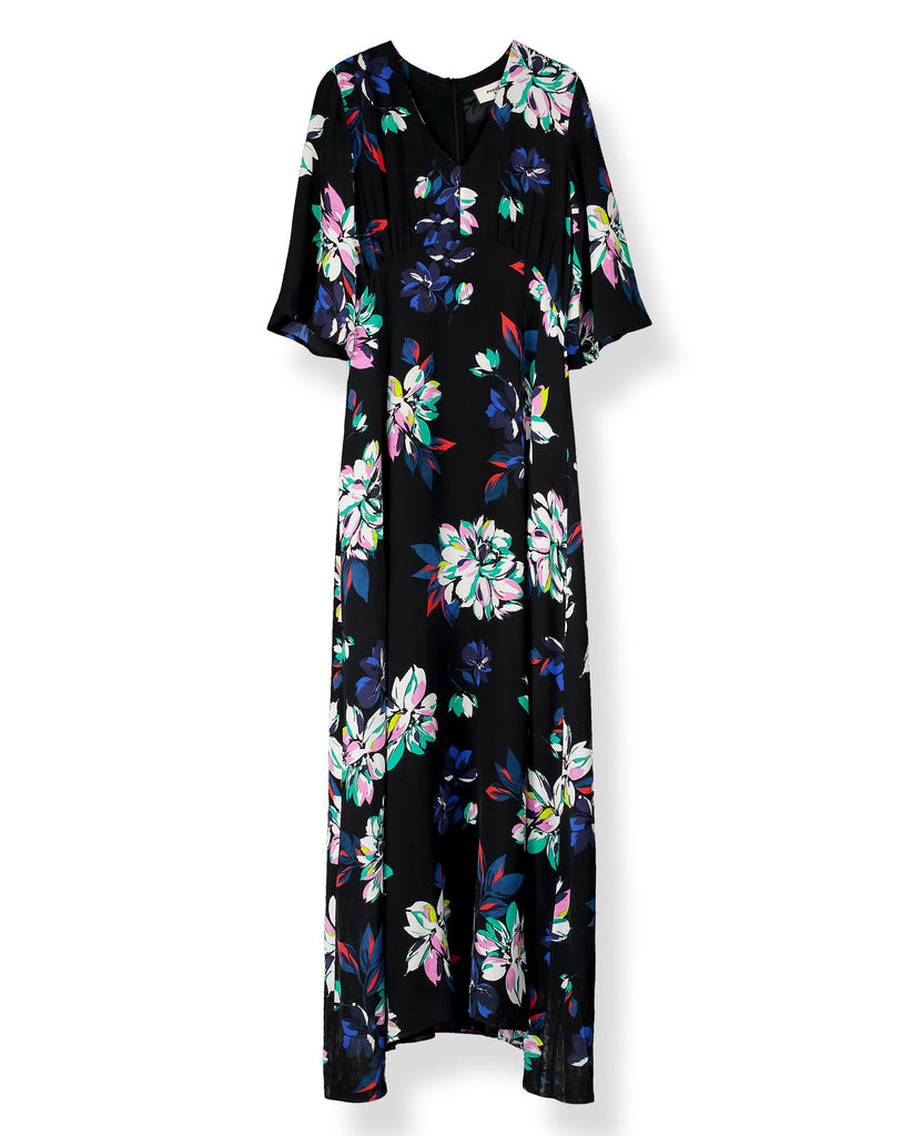Beatrice Silk Printed Midi Dress in Como Floral