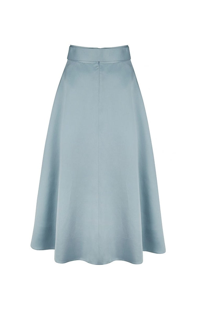 Curve Skirt in Alice Blue