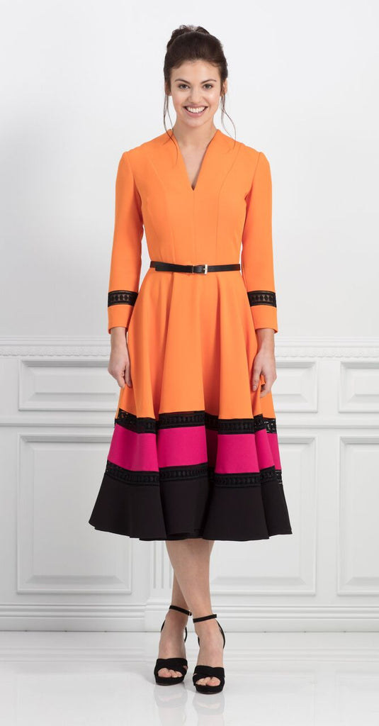 Dakota Dress in Orange
