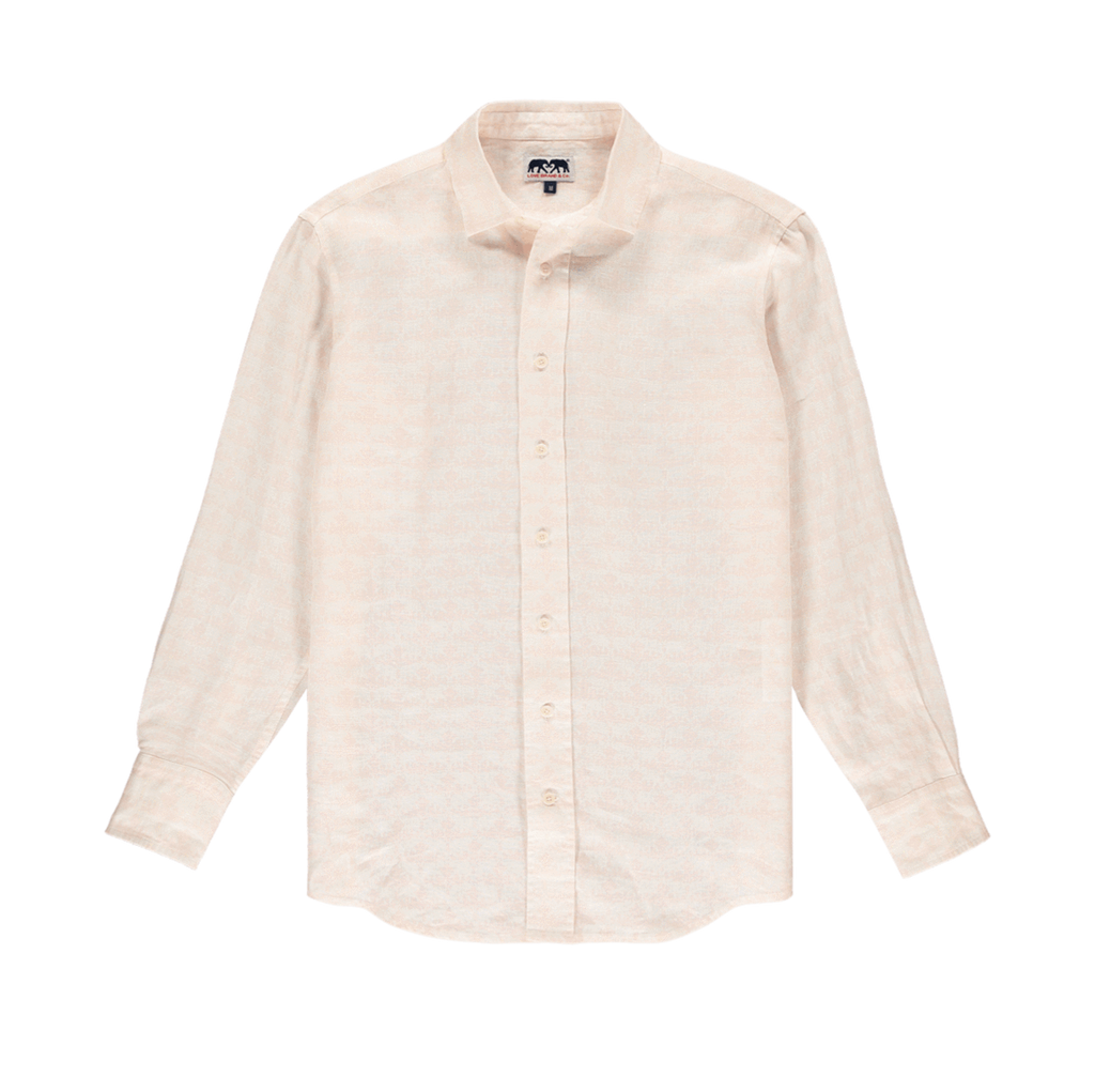 Elephant Dance Mens Abaco Linen shirt in Pink