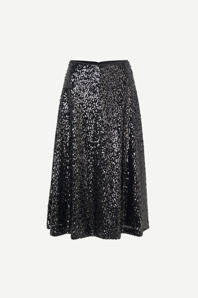 Henny Skirt in Black Sequins