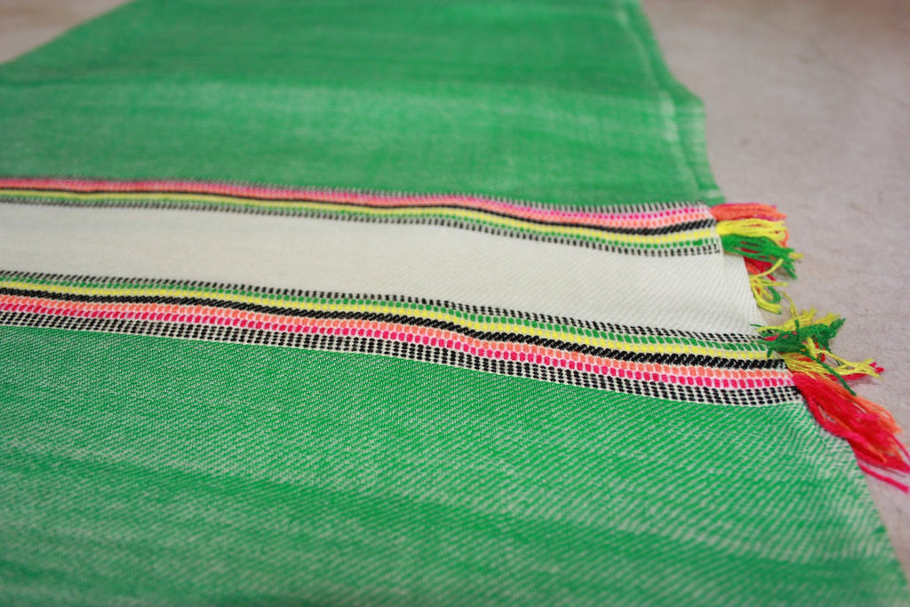 Apple Thick Multicoloured Stripe Shawl
