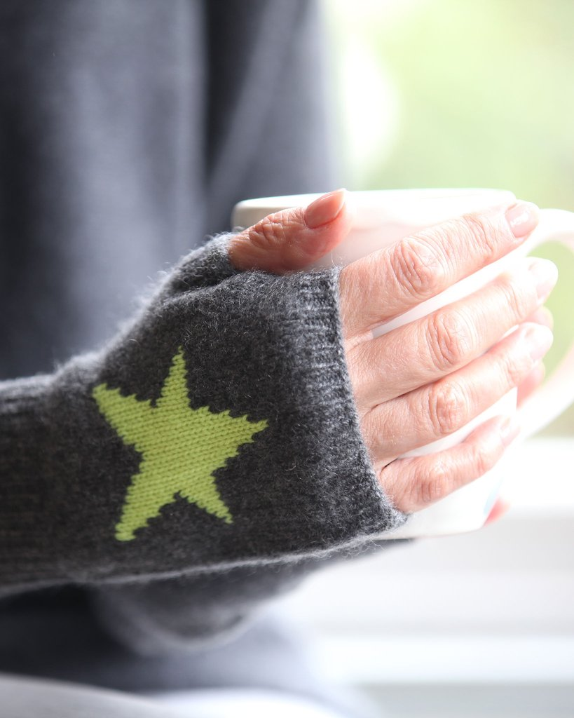Pure Cashmere Star Handwarmers