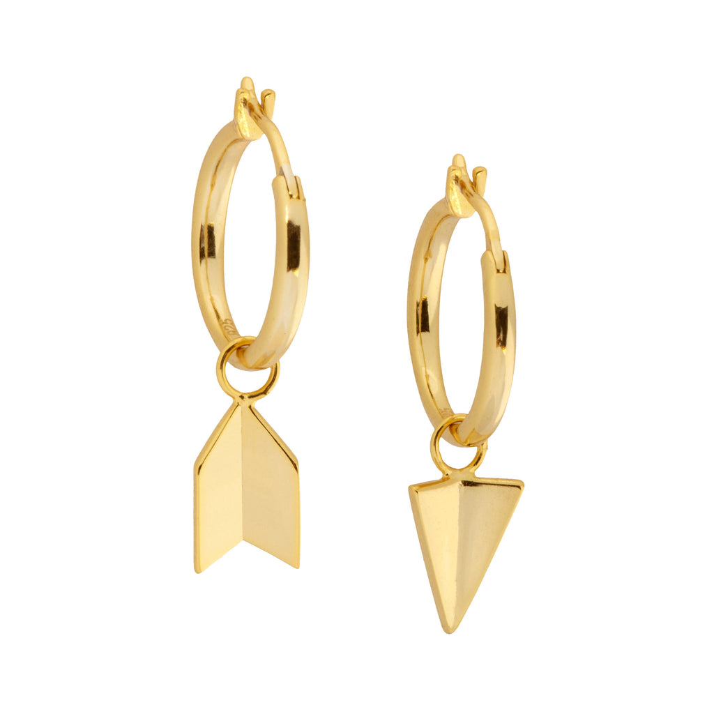 Inverted Arrow Hoop Earrings