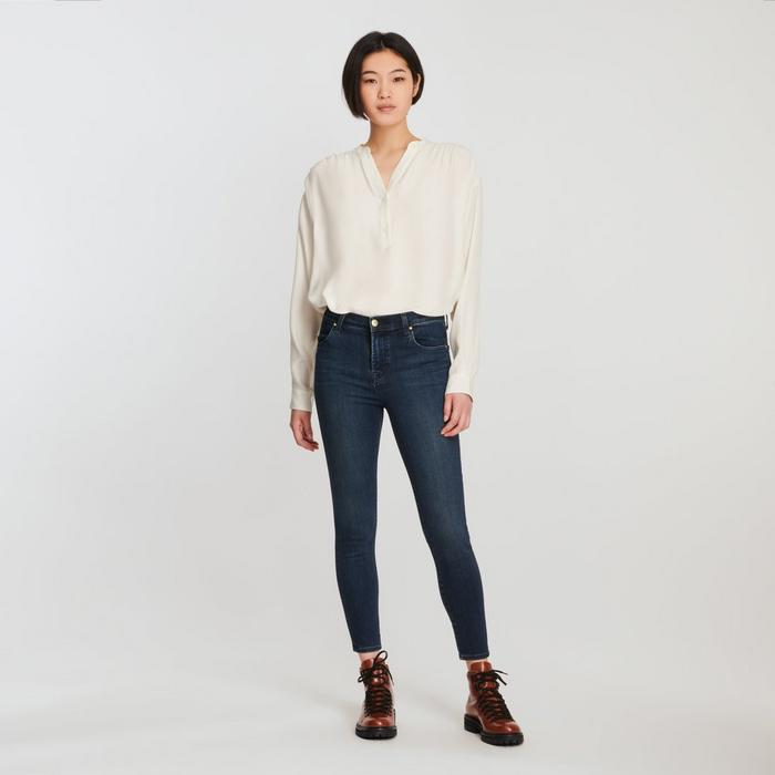 Alana High Rise Skinny Crop Jeans in Fix
