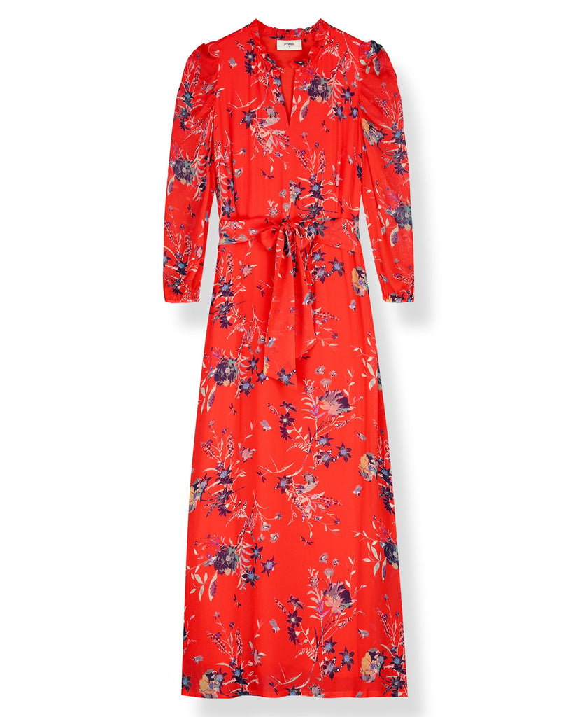 Maggie Dress in Buzzy Floral Red