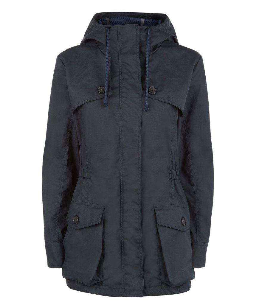Wax Parka in Navy