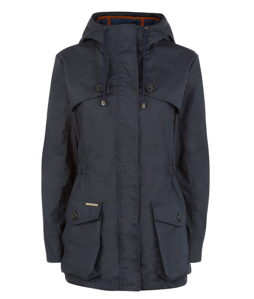 Pop Wax Parka in Navy