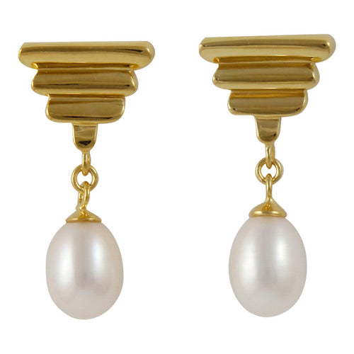 Pearly Sarita Gold Plated Earrings