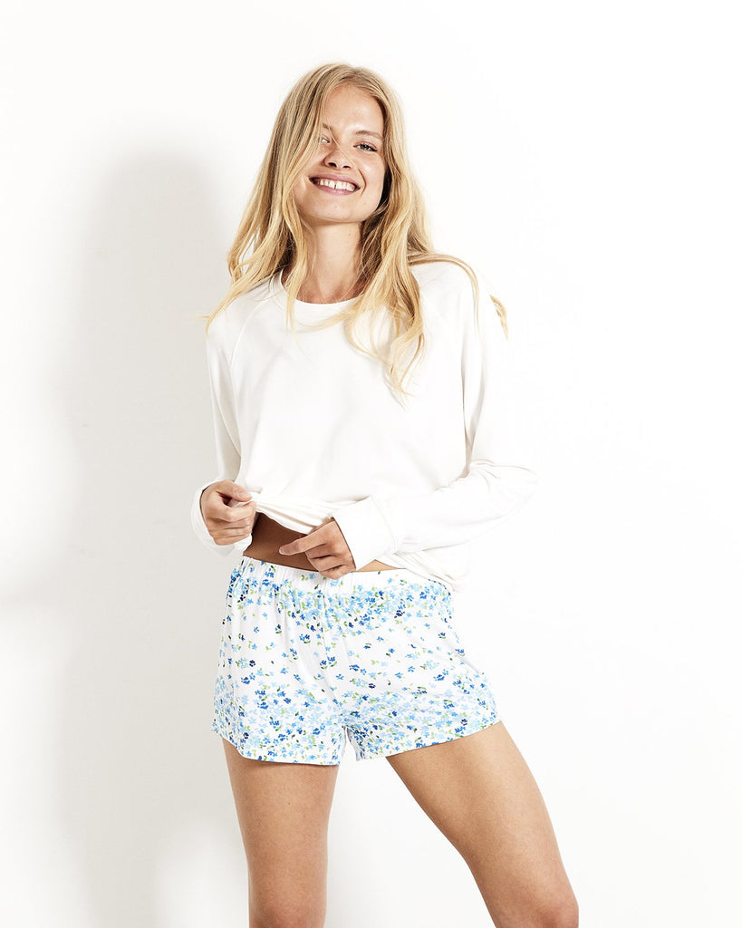 Periwinkle Bed Shorts