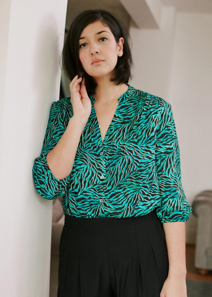 Solace Blouse in Geo Animal Print