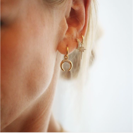 Fallen Star Hoop Earrings