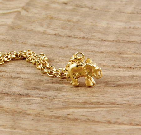 Elephant Gold Plated Bracelet