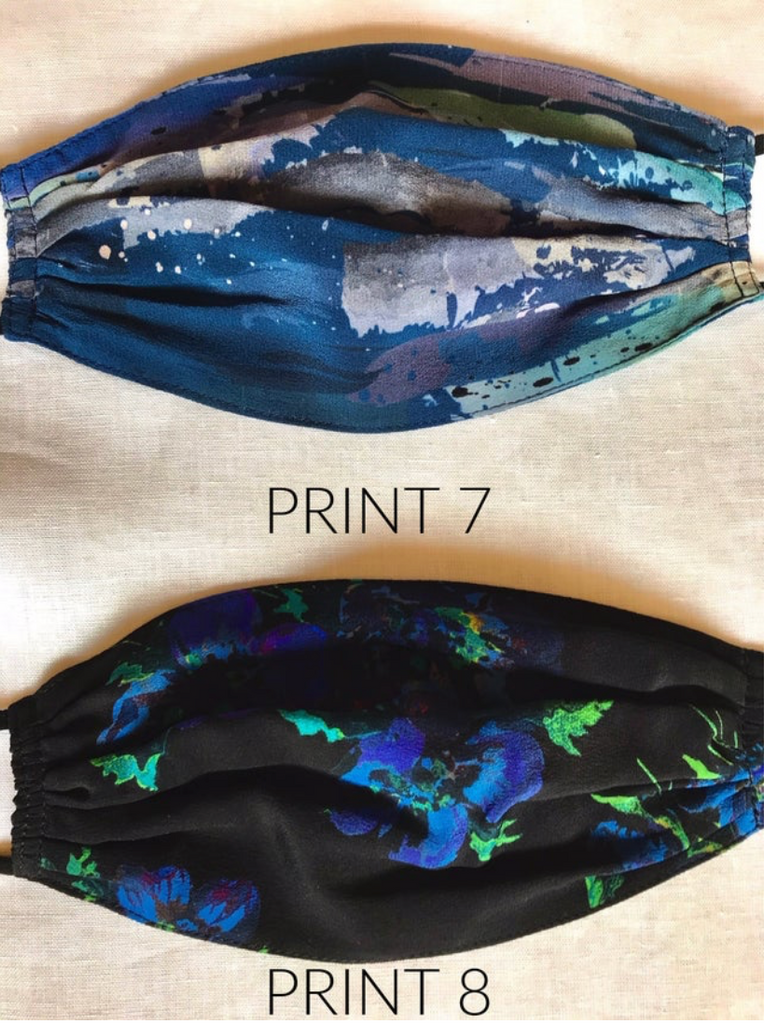 Printed Silk Face Masks
