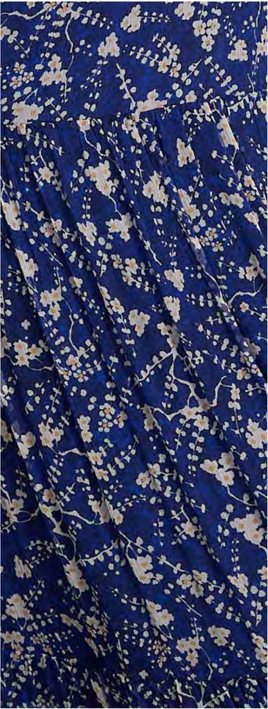Isabel Dress in Deep Cobalt Blossom