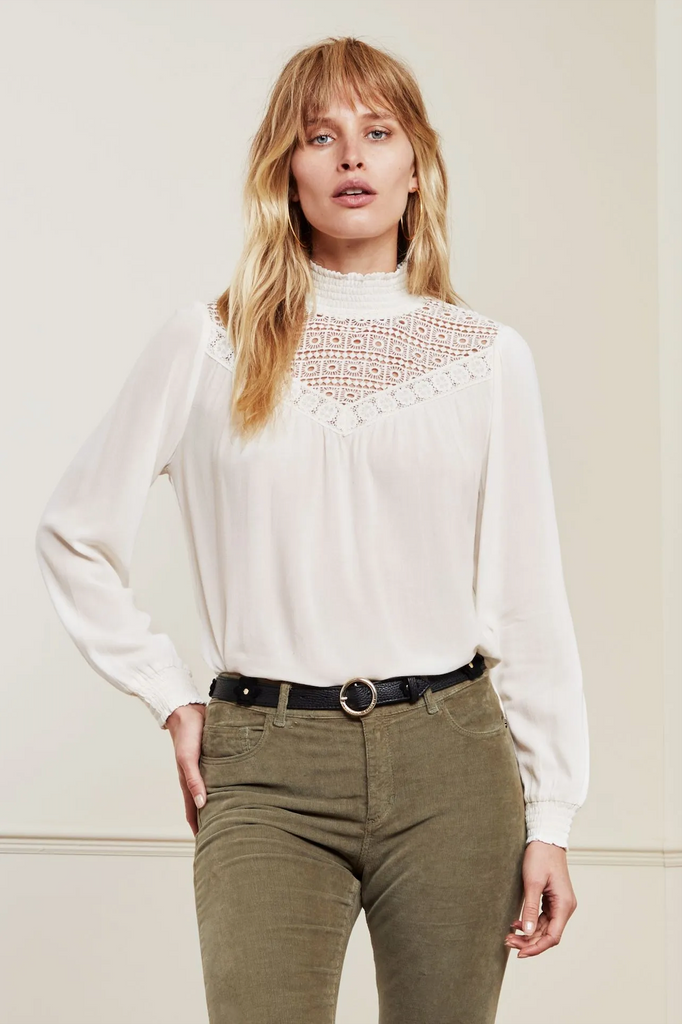 Lara Top in Cream White