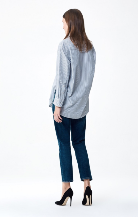 Elsa Mid Rise Slim Crop Jean in New Moon