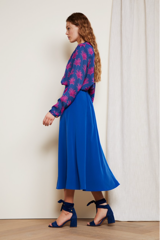Megan Skirt in Fan Blue