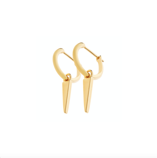 Spike Hoop Earrings - Gold