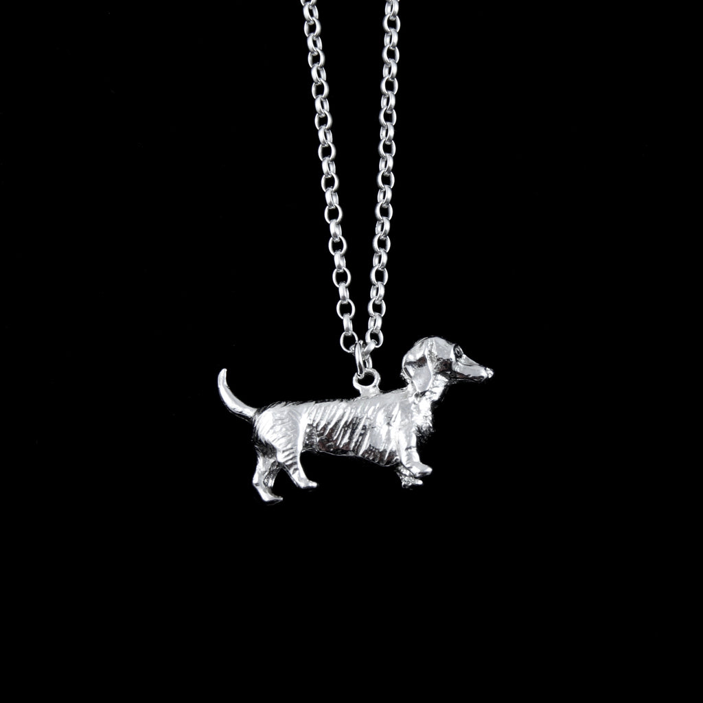 Dachshund Silver Necklace