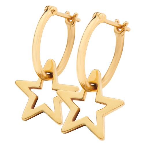 Sirius Star Hoop Earrings Gold