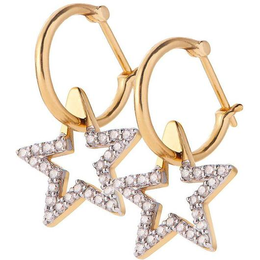 Sirius Star Hoop Earrings - Diamond