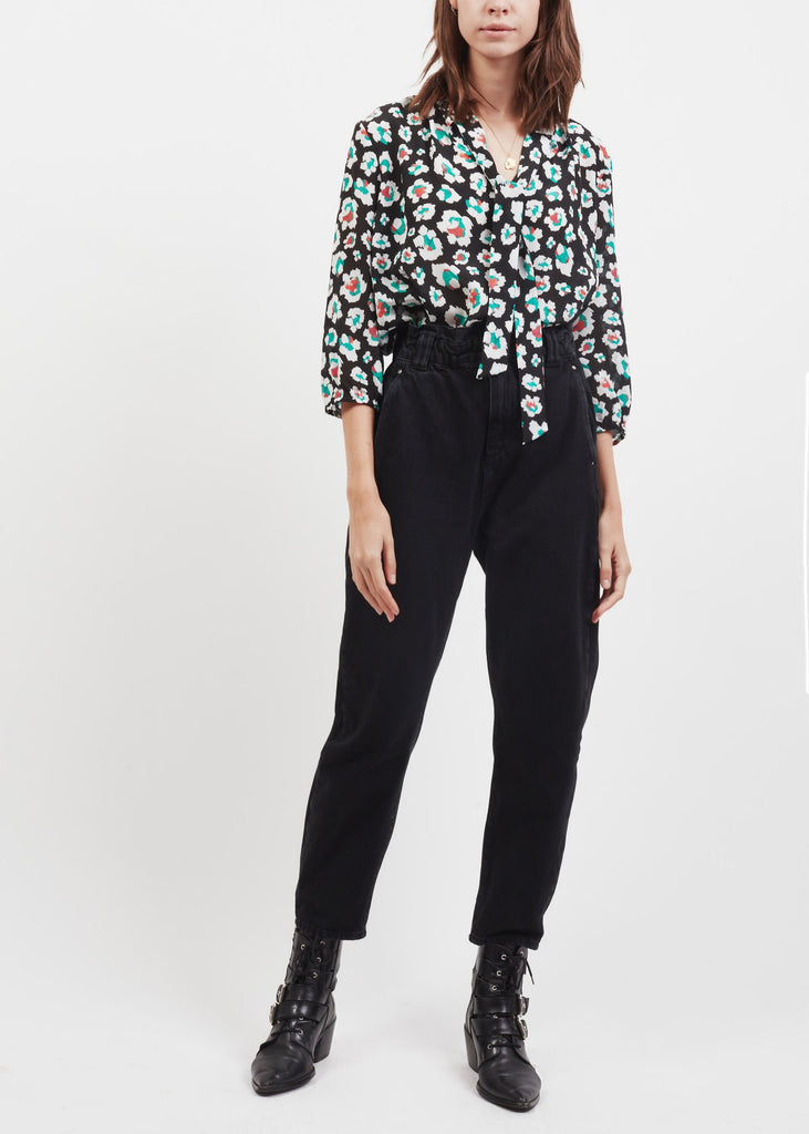 Tillie Tie Neck Top in Guache Floral