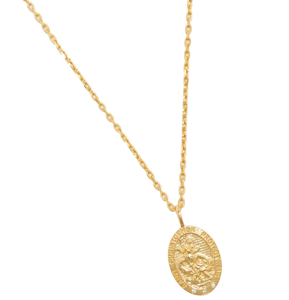 ST CHRISTOPHER PENDANT NECKLACE