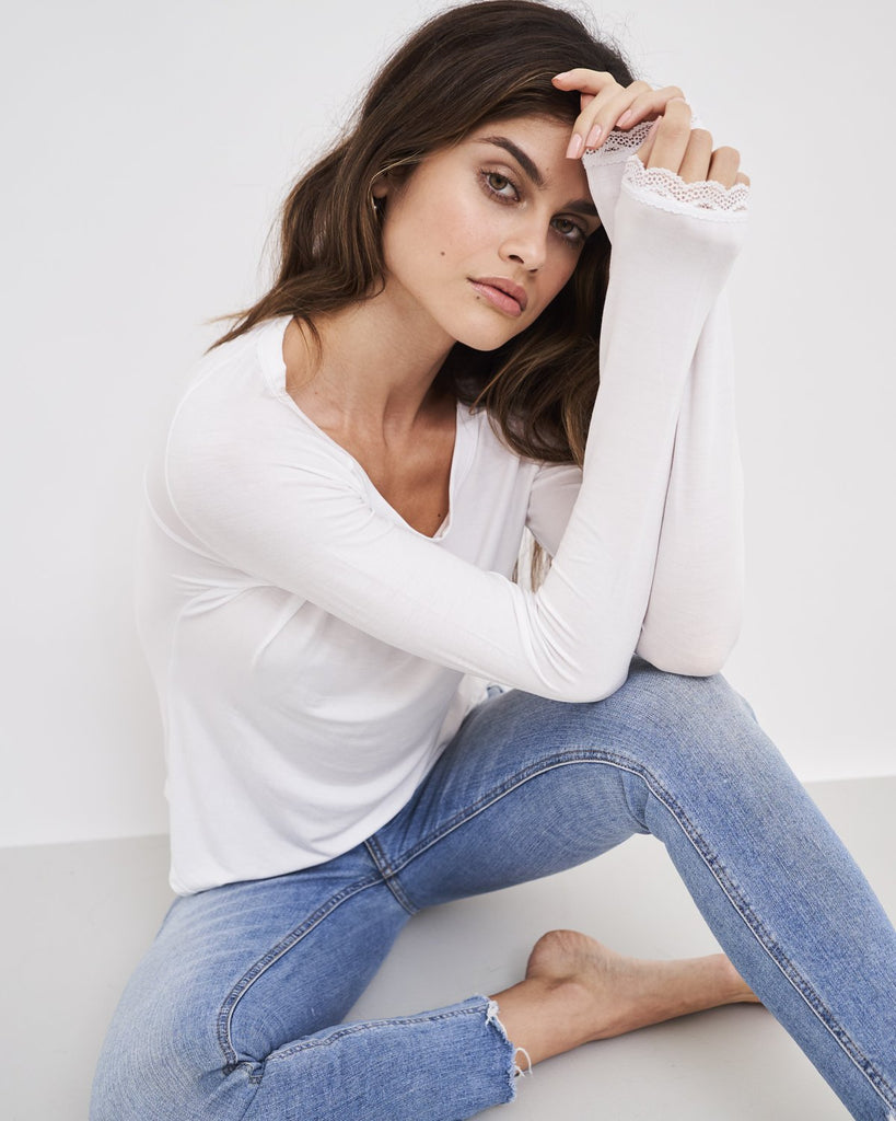 Essential Slouch Top in White