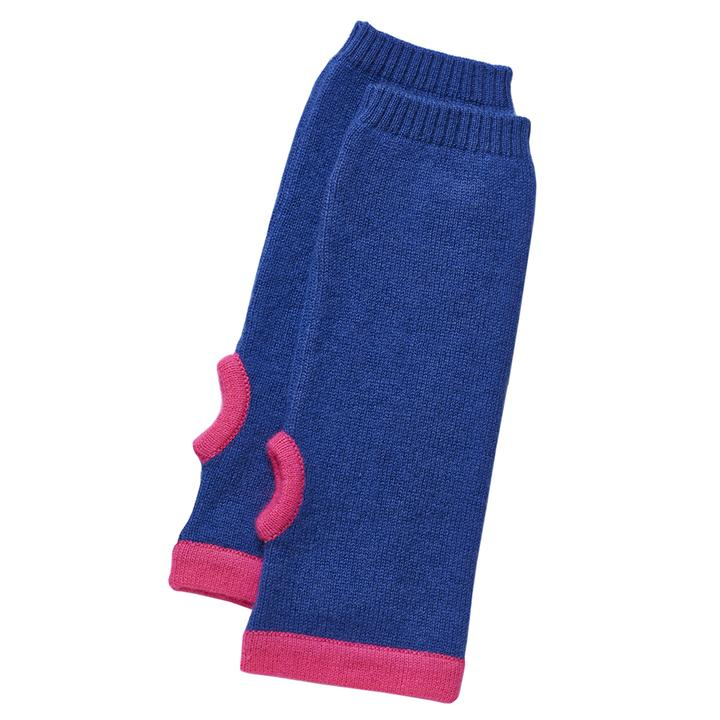 Cashmere Wrist Warmers in Blue & Pink