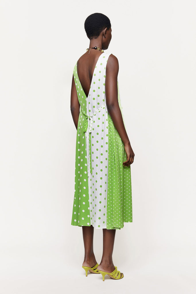 Yara Dotty Dress Green