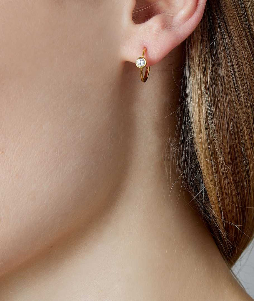 Zircon Simple Hoop Earrings