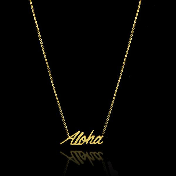 Gold Aloha Necklace