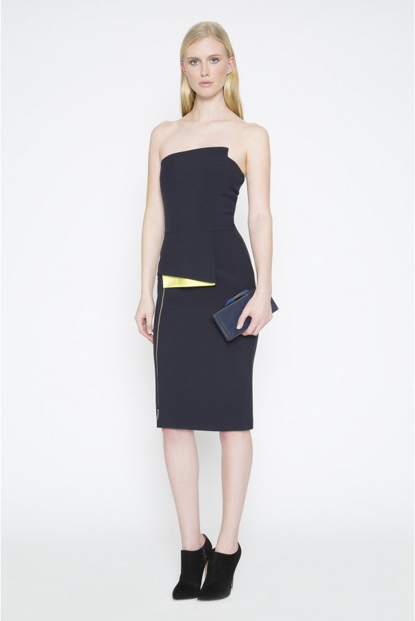 Springsteen Midnight Strapless Dress