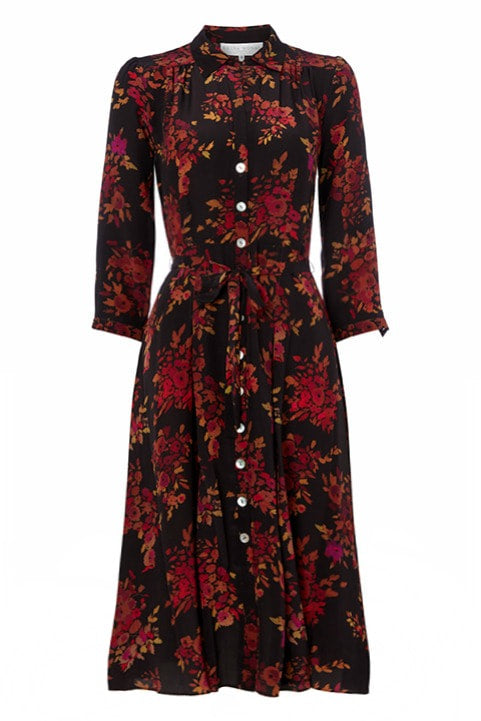 Shirtwaister Dress in Autumn Leaves