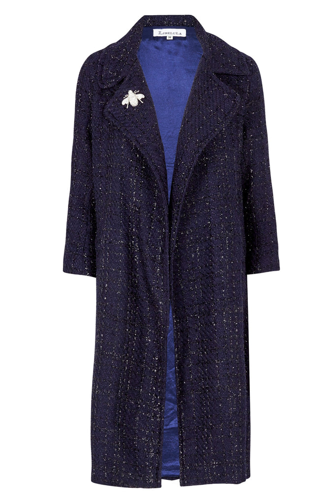 Woolhampton Sparkle Boucle in Navy