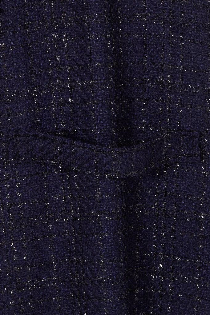 Woolhampton Coat in Navy Sparkle Boucle