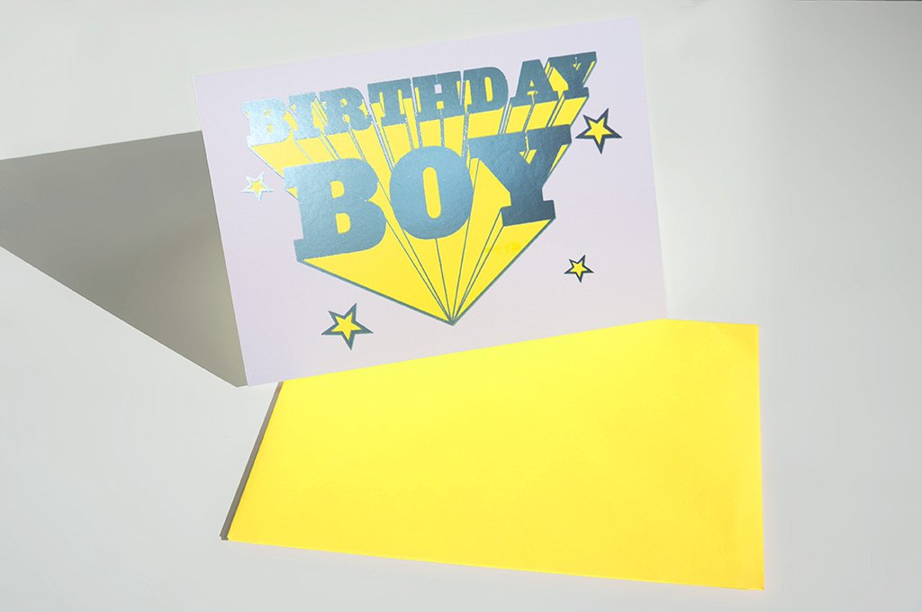 Birthday Boy Card - Yellow