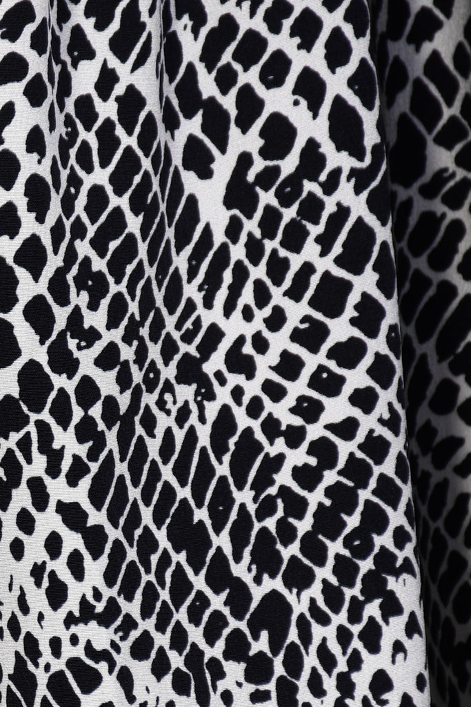 Claude Dress in Monochrome Snake Print
