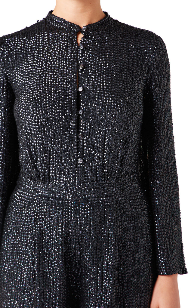 Constellation Jumpsuit in Black Sequins