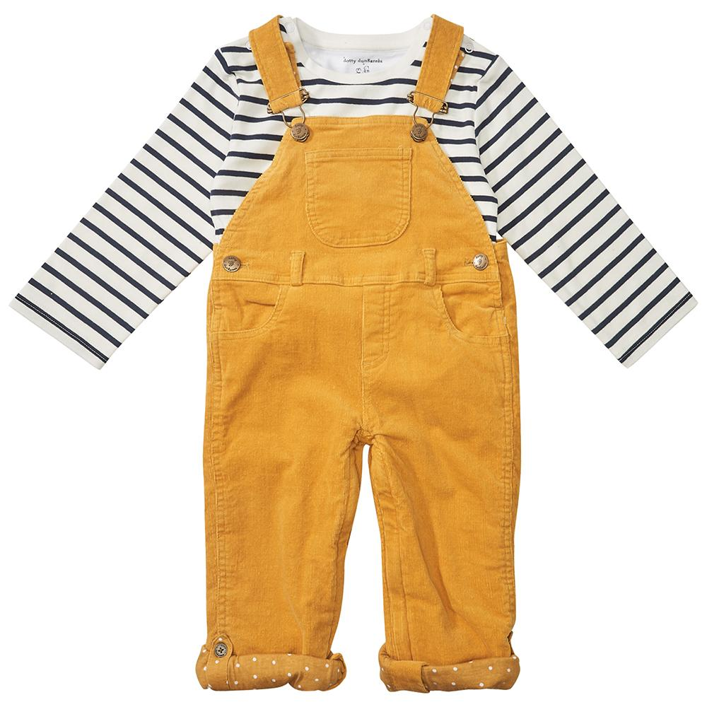 Yellow Denim Dungarees