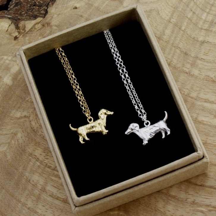 Dachshund Gold Plated Necklace