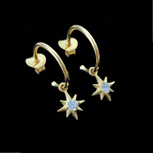 North Star Earrings - Gold Plated