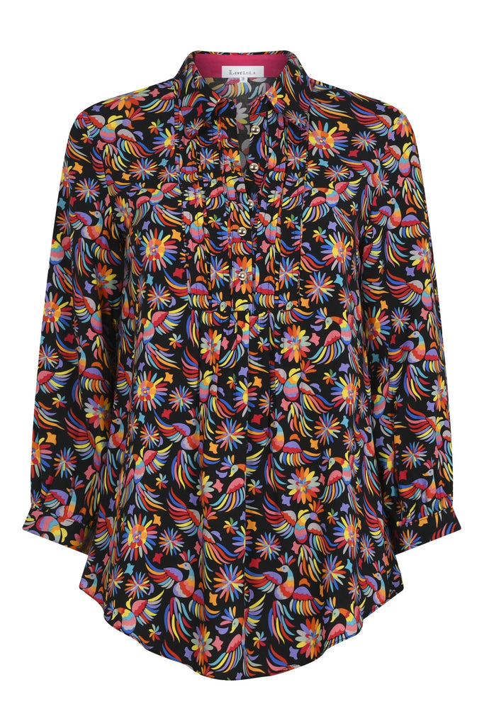 Delphine Top in Mexi Rayon Print