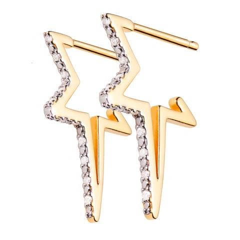 Shooting Star Diamond Hoops
