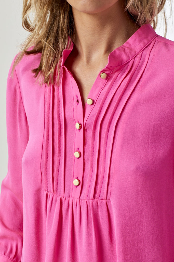 Delphine Top in Bubblegum Pink