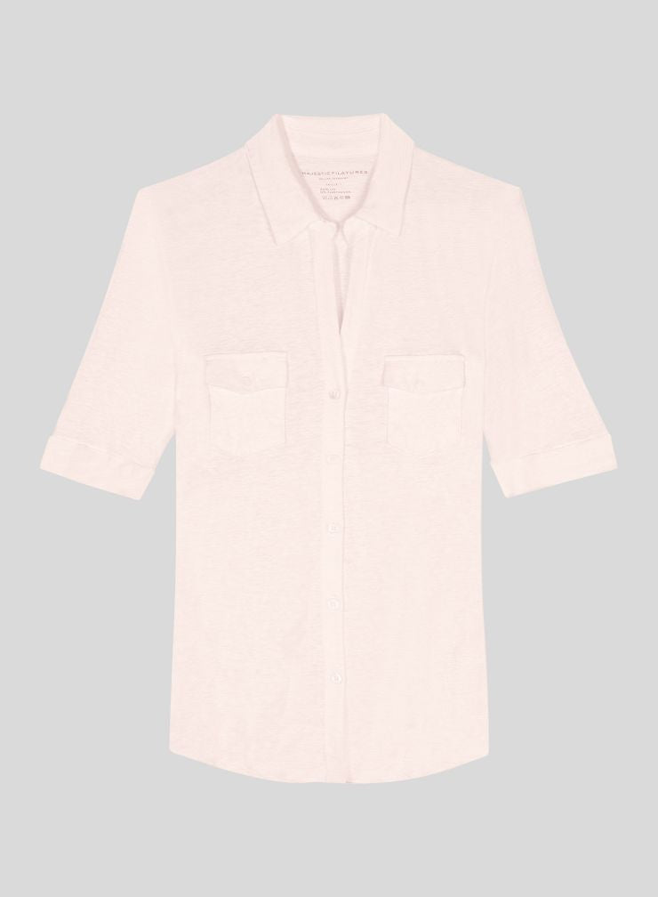 Lydia Short Sleeve Shirt in Petal